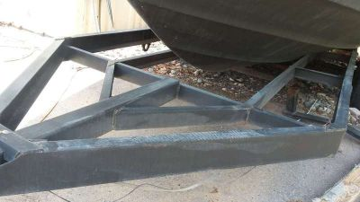 2010 BOAT TRAILER HOMEM WITH Triple Axle HEAVY DUTY, SIX BRANNY NEW TIRES UP TO