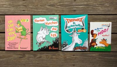 """HUGE - 8"""" x 11"""" COLLECTORS EDITION - DR. SEUSS - HARDBACK BOOKS REGULAR SIZE SHOWN TO THE RIGHT - BOUGHT FROM KOHL'S"""