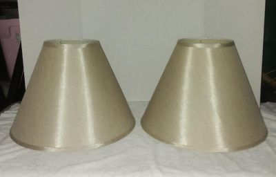 Set of 2 Shimmering Rustic Gold Large Empire Lamp Shade