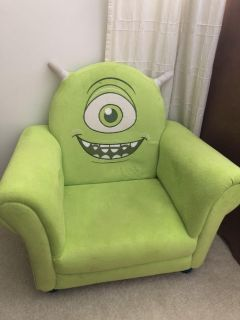 Disney Pixar monsters inc upholstered chair- mike wazowski