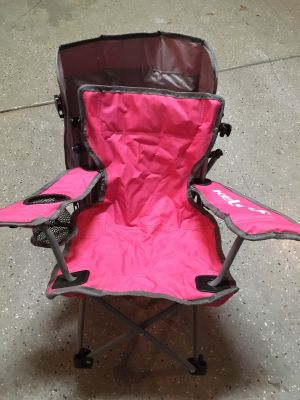 Child chair with canopy and cup holder