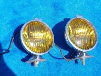 Buy Vintage Original 6 Volt Fog Light by Perfection Detroit USA Very Nice Pair motorcycle in Great Bend, Kansas, United States
