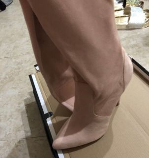 Suede Over the Knee Boots , Size 7, Brand New