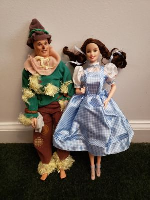 Ken as Scarecrow & Barbie as Dorothy dolls