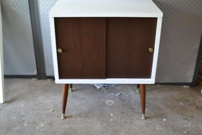 Vintage Record Cabinet turned into Night Stand/End Table