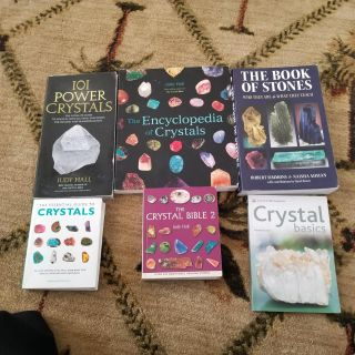 New books about crystals and stones.