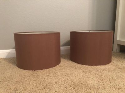 Pair of matching lampshades
