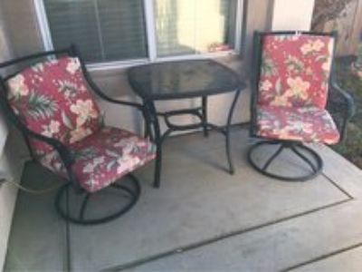 patio two chairs and table