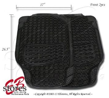 Sell Front + Rear Trim to Fit Rubber Floor Mat 4pc Style#B104 for Full Size Vehicle motorcycle in La Puente, California, United States, for US $25.95