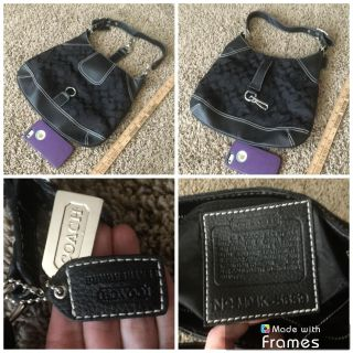 Coach purse, in EUC, really doesn t appear to have been used, not sure how to tell if this is authentic, you can exam it before buying, $25.