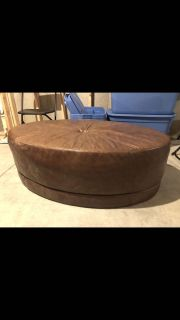 Real leather ottoman in great condition. Need gone so selling cheap this is large!!! 48 long by 16 tall