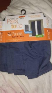 2 curtain panels 30 84 in