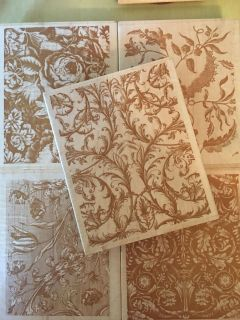 Set of 5 Anna Griffin 5x4 block stamps -Like new