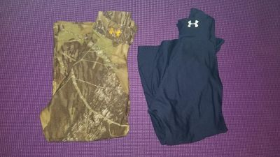 2 size large under armour cold gear tops