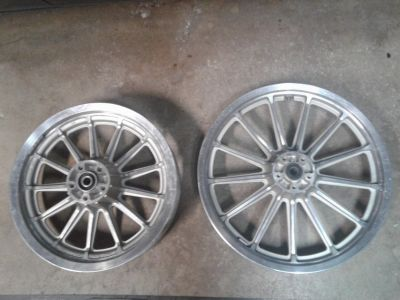 Cast Aluminum Harley Wheels from a 1996 FXD