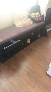 Storage shoe bench