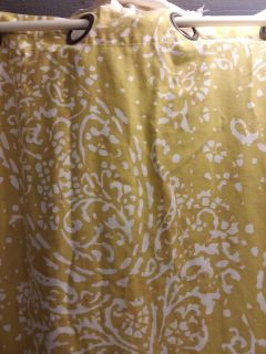 Pair of target curtains