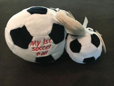 NWT soccer ball and rattle
