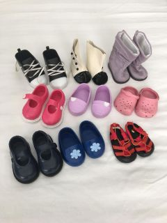 Lot of doll shoes for American Girl Doll