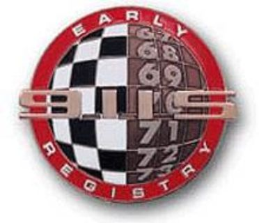 Early Porsche 911S Registry Grill Badge