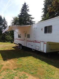 2000 TERRY 5TH WHEEL R.V.TOYBOX CAR HAULER 33 1/2 FT.