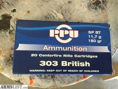 For Sale: WTS - AMMO 303 British