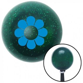 Find Blue Hawaiian Flower #4 Green Metal Flake Shift Knob with 16mm x 1.5 insert motorcycle in Portland, Oregon, United States, for US $29.97