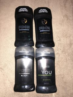 Axe/right guard/ speed stick And old spice
