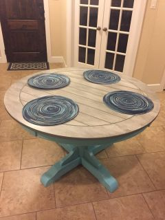 Grey Washed Farmhouse Dining Table