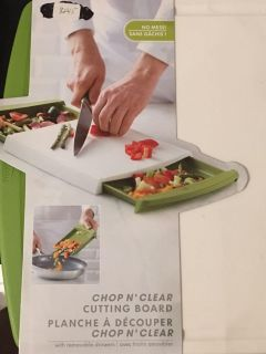 Chop n Clear Cutting Board with removable drawers.