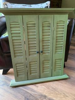 Decorative mirror with shutters - rustic look