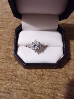 Sterling silver Austrian crystal ring.