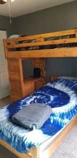 Solid Pine Twin Bunk Beds