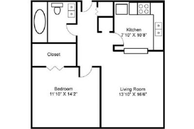 1 bedroom - Welcome to Friendly Community Apartment Homes.