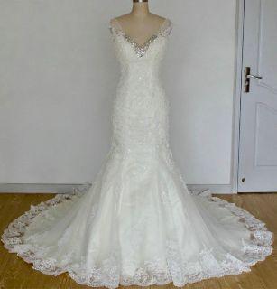 Autumn's Mermaid Lace Empire Waist Wedding Dress
