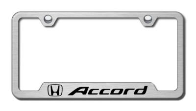 Find Honda Accord Laser Etched Brushed Stainless Cut-Out License Plate Frame Made in motorcycle in San Tan Valley, Arizona, US, for US $32.95