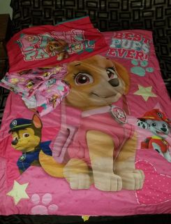Paw patrol bedding for a toddler bed