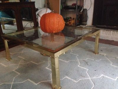 GORGEOUS RARE Mid Century Brass Table