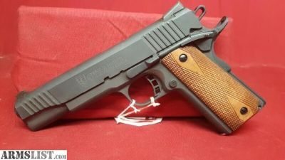 """For Sale: Citadel M-1911 Full Size 9mm 5"""" 8+1 Checkered Wood Grips Black Finish SS1043731"""