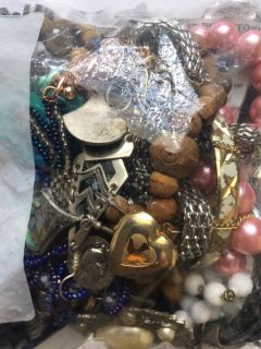 Bag of Jewelry -Wear and Crafting -Mostly Vintage