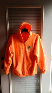 Unisex orange Pineapple Willy's zip front hoodie. Great condition. Size L but fits like an XL