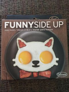 NEW - Funny Side Up - Cat Silicone Mold