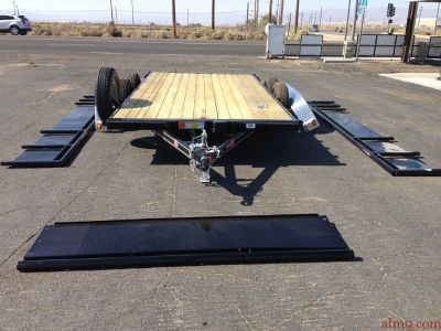 PJ Landscape Trailers, Tandem Axle Channel Utility Trailers, PJ Trailers UL142-Solid Metal Sides, GV