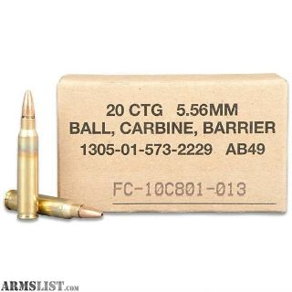 For Sale: 1,000 rounds of Federal 5.56mm SOST rounds (2k avoidable)