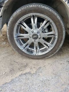 22 chrome rims and tires