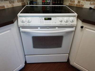 Flat top stove/convection oven
