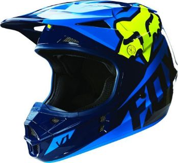 Find NEW 2016 FOX RACING V1 RACE MX DIRT BIKE MOTOCROSS HELMET BLUE/ YELLOW ALL SIZES motorcycle in Chino, California, United States, for US $169.95