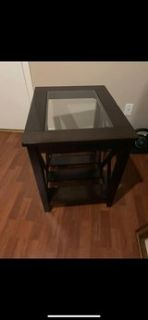 Side table with glass top Reduced