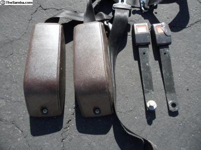 1982 Vanagon brown front seat belts