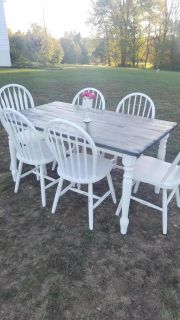Dark Stained Farmstyle Dining Table(Chairs sold separately)